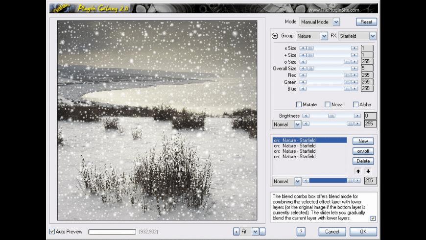 Plugin Galaxy for Mac - review, screenshots