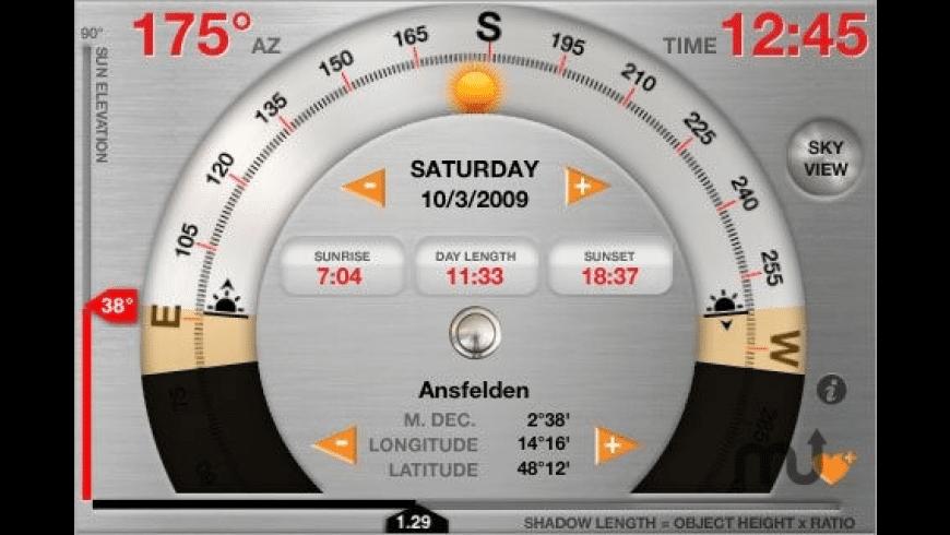 Helios Sun Calculator for Mac - review, screenshots