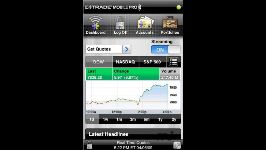 E*TRADE Mobile Pro for Mac - review, screenshots
