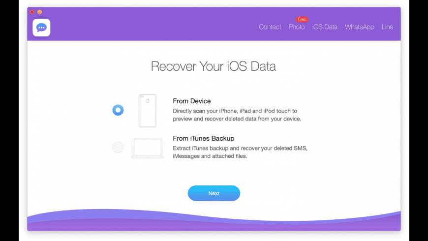 iPhone Message Recovery for Mac - review, screenshots