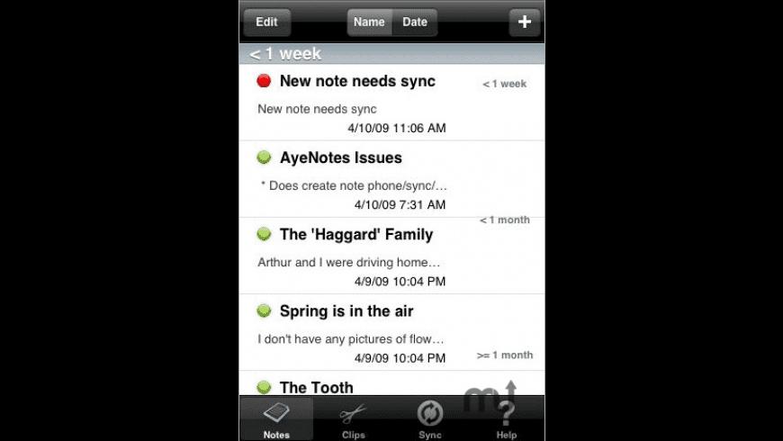 AyeNotes Pro for Mac - review, screenshots