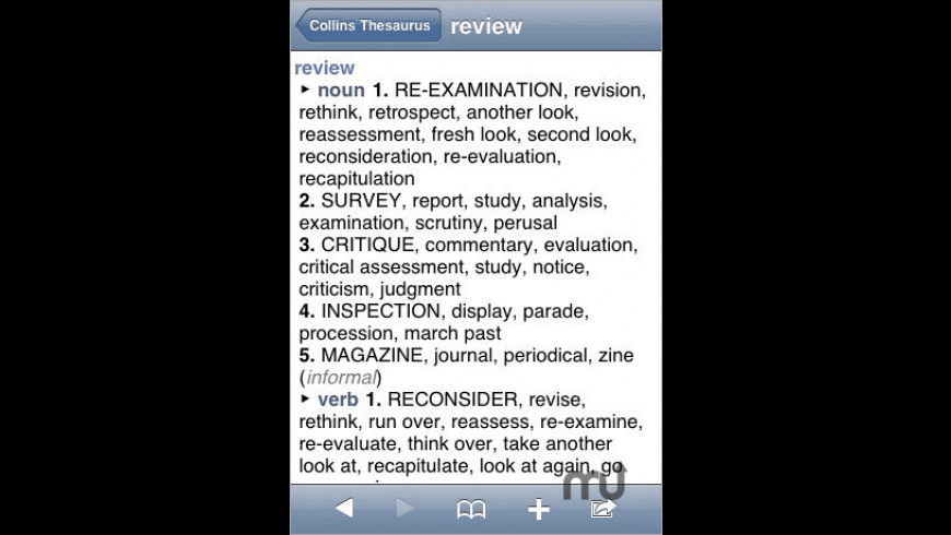 Collins Essential Thesaurus for Mac - review, screenshots