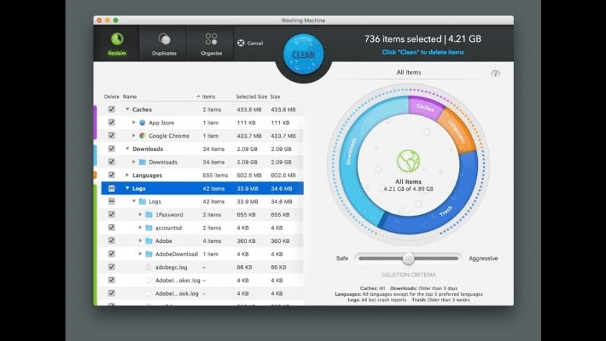 Washing Machine for Mac - review, screenshots