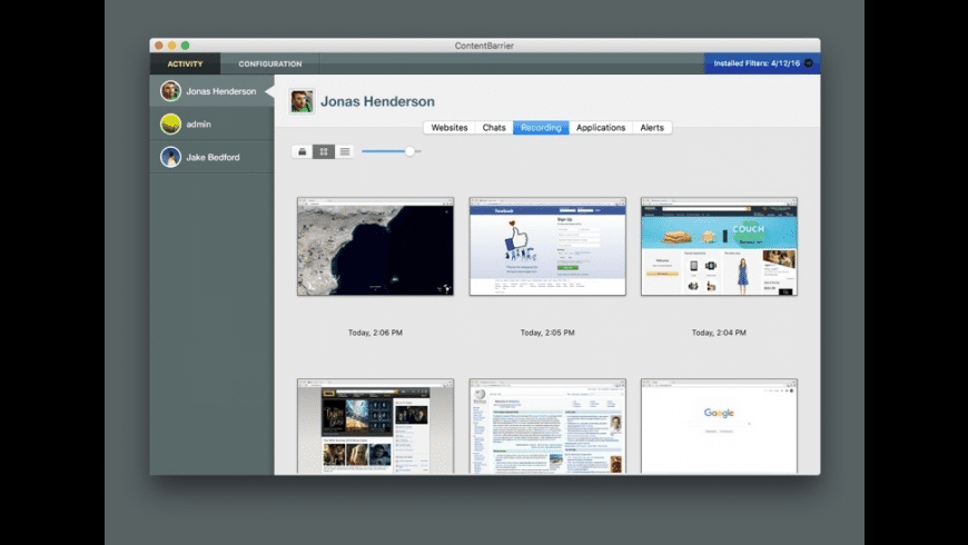 ContentBarrier X9 for Mac - review, screenshots
