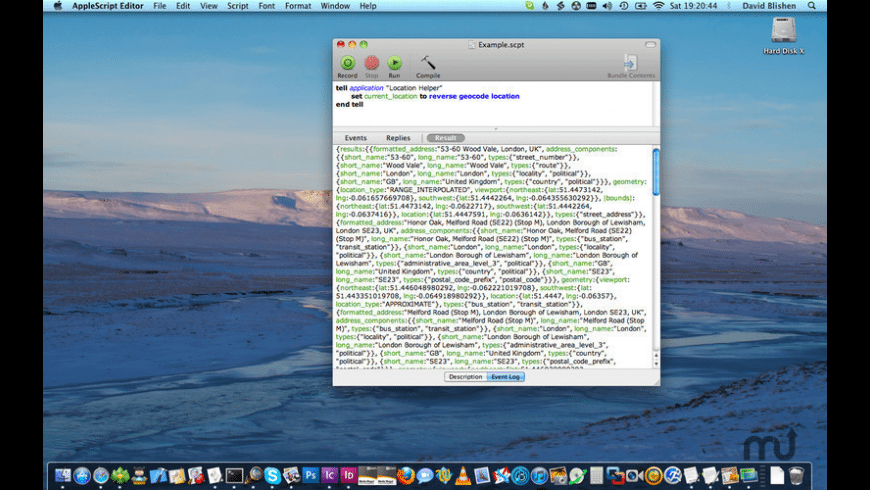 Location Helper for AppleScript for Mac - review, screenshots