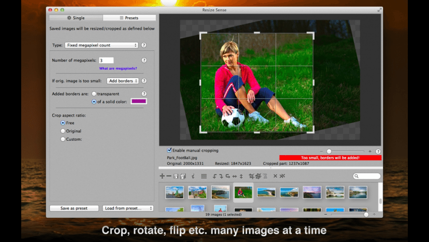 Resize Sense for Mac - review, screenshots