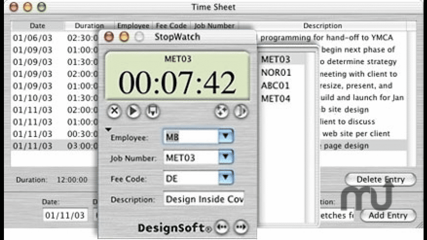 StopWatch Plus for Mac - review, screenshots