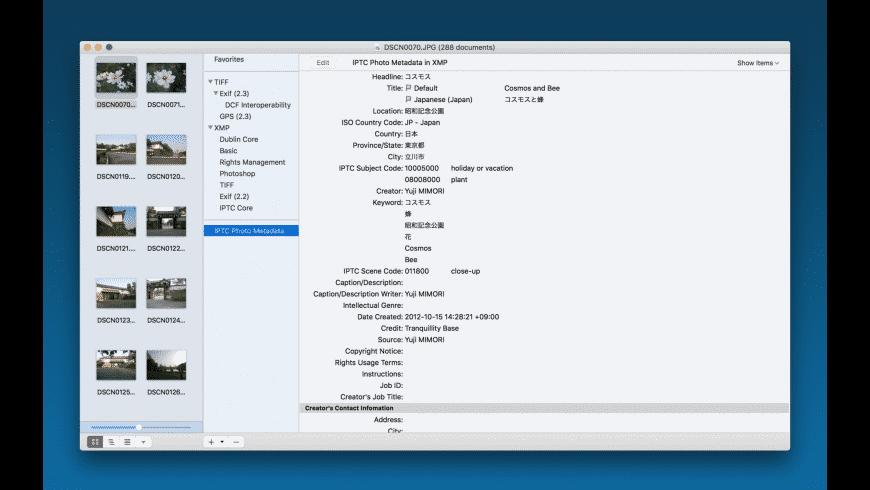 Photo Meta Edit for Mac - review, screenshots
