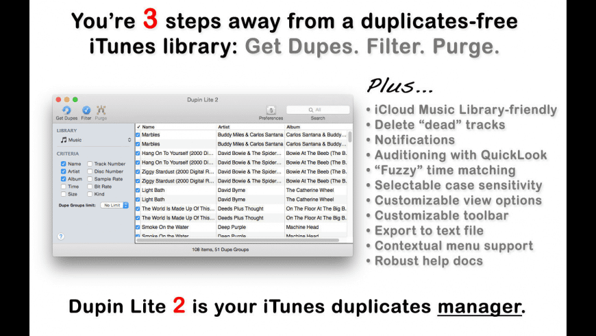 Dupin Lite for Mac - review, screenshots