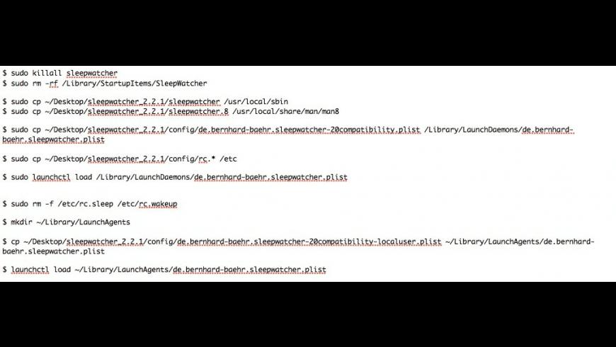 SleepWatcher for Mac - review, screenshots