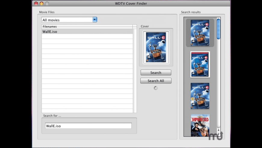 WDTV Cover Finder for Mac - review, screenshots