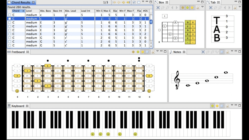 Chord Scale Generator for Mac - review, screenshots