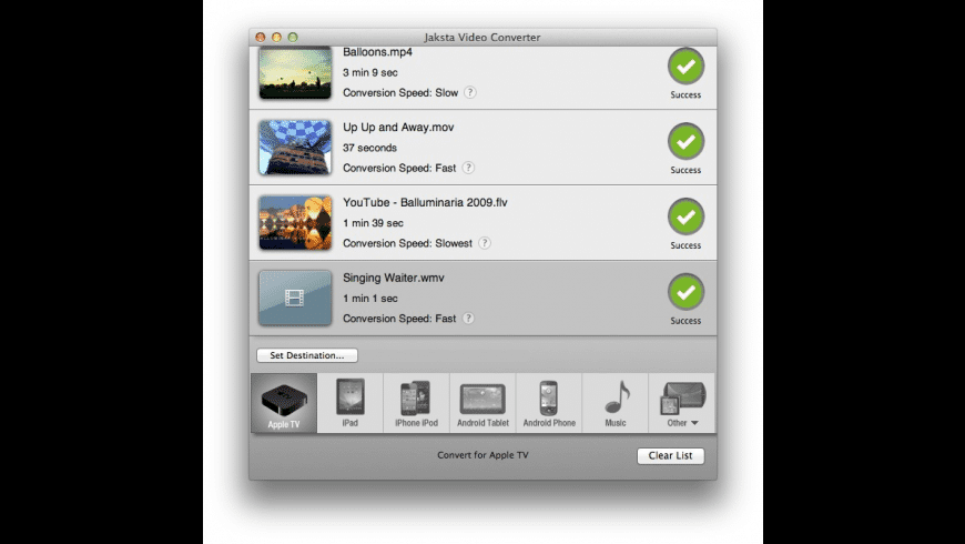 Jaksta Video Converter for Mac - review, screenshots