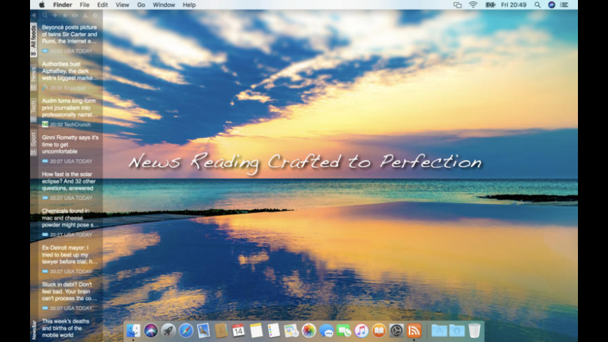 NewsBar for Mac - review, screenshots