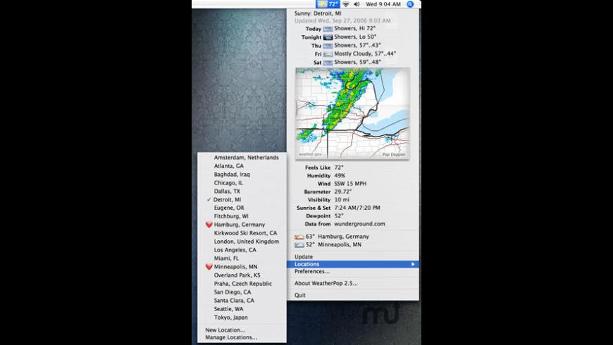 WeatherPop Advance for Mac - review, screenshots