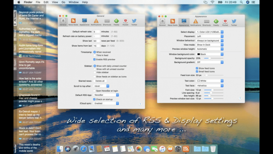 NewsBar for Mac - review, screenshots