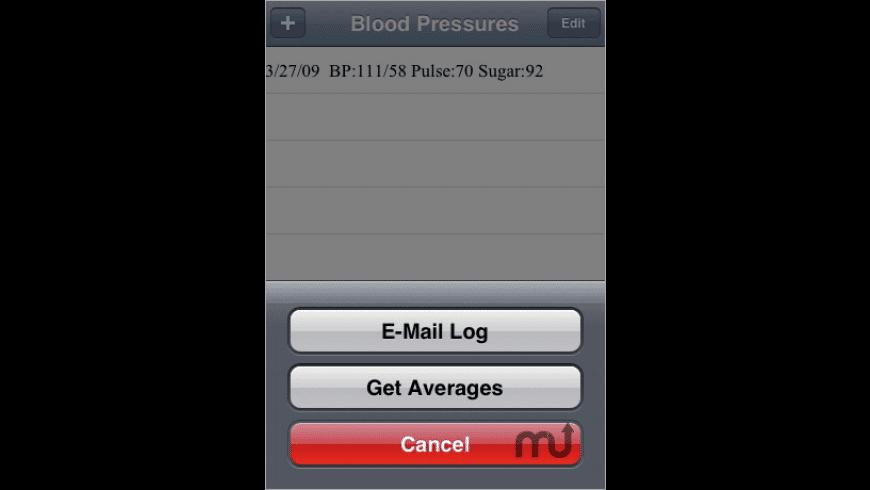 Blood Pressure Tracker for Mac - review, screenshots