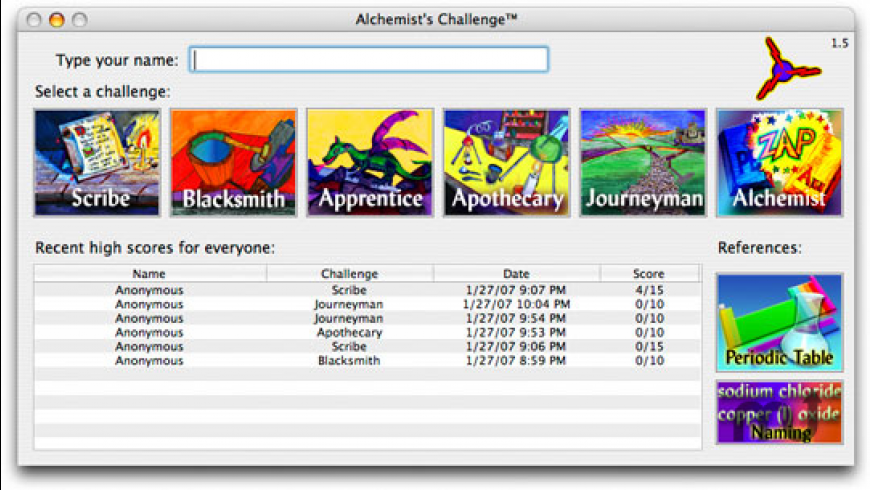 Alchemists Challenge for Mac - review, screenshots