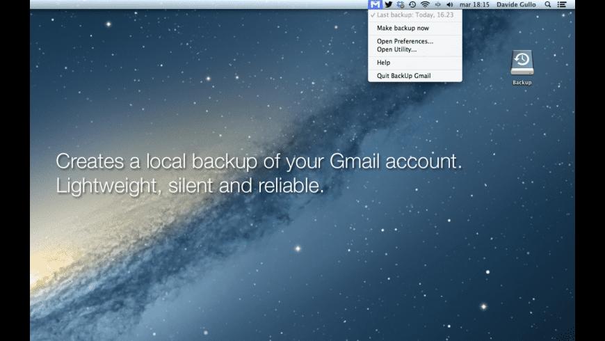 BackUp Gmail for Mac - review, screenshots