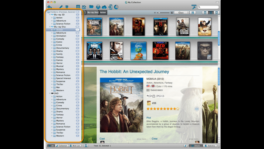 Movie Collector for Mac - review, screenshots