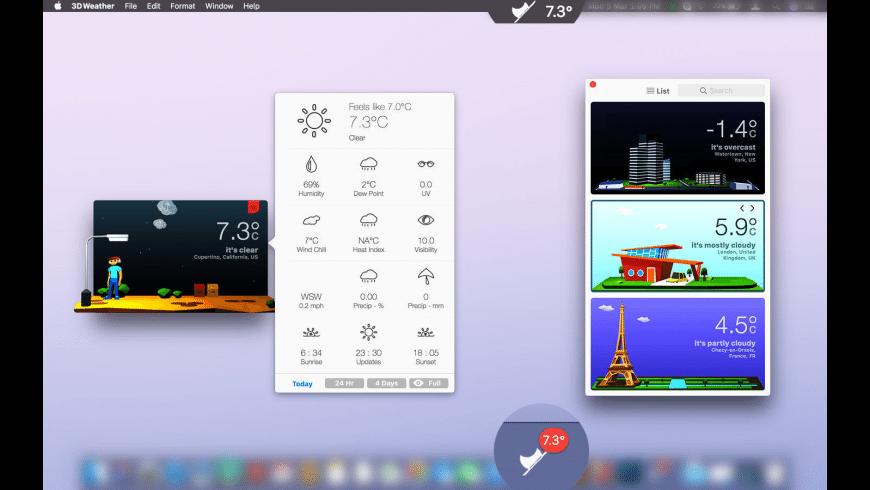 3DWeather for Mac - review, screenshots