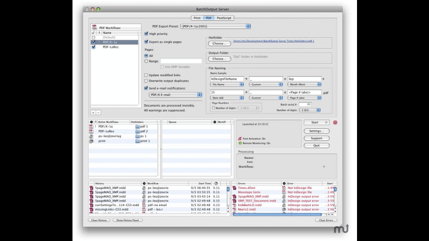 BatchOutput Server for Mac - review, screenshots