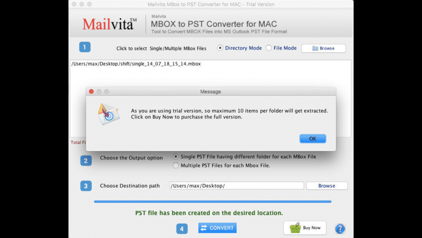 Mailvita Postbox to PST Converter for Mac - review, screenshots