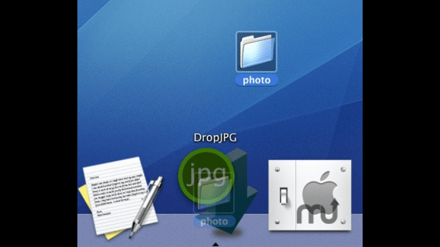 DropJPG for Mac - review, screenshots