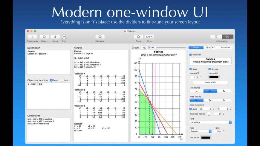 SimplexLP 2 for Mac - review, screenshots