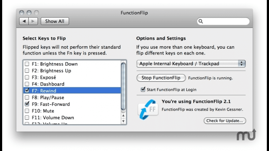 FunctionFlip for Mac - review, screenshots