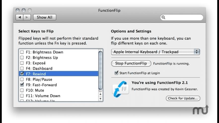 FunctionFlip for Mac - review, screenshots