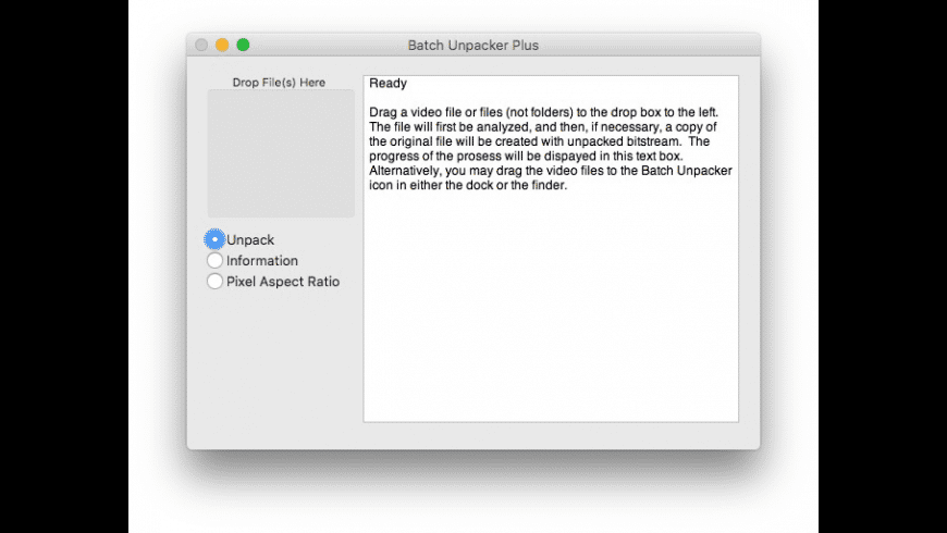 Batch Unpacker Plus for Mac - review, screenshots
