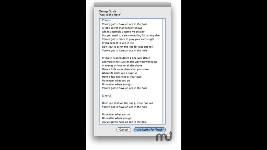 Lyrics Via LyricWiki for Mac - review, screenshots