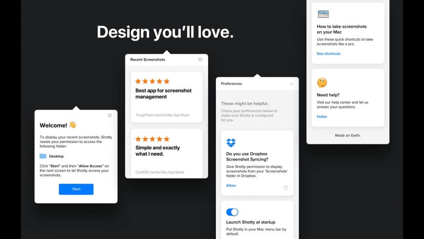 Shotty for Mac - review, screenshots
