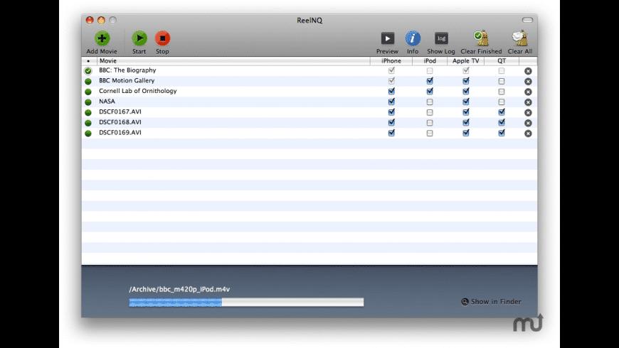 ReelNQ for Mac - review, screenshots