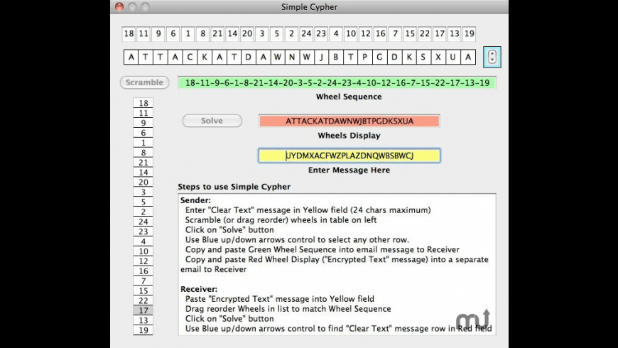 Simple Cypher for Mac - review, screenshots