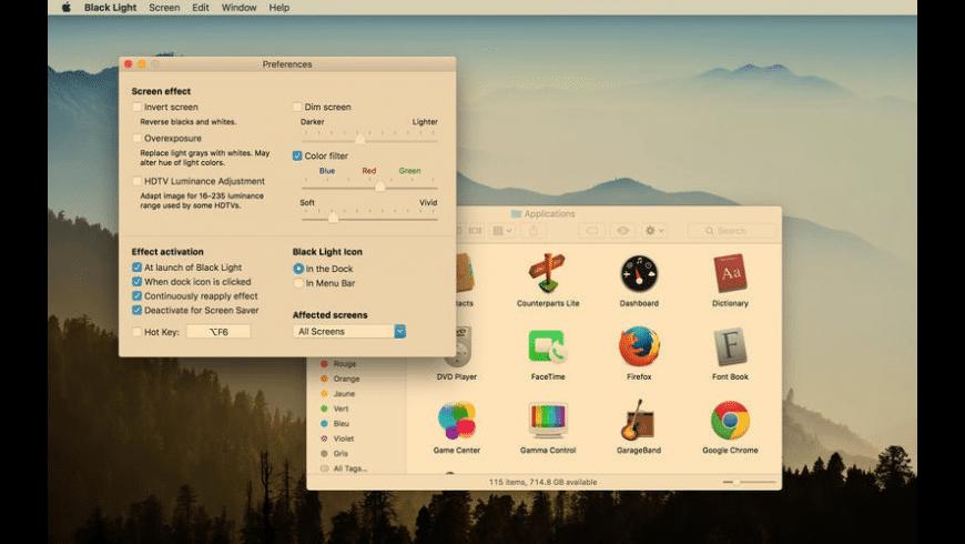 Black Light for Mac - review, screenshots