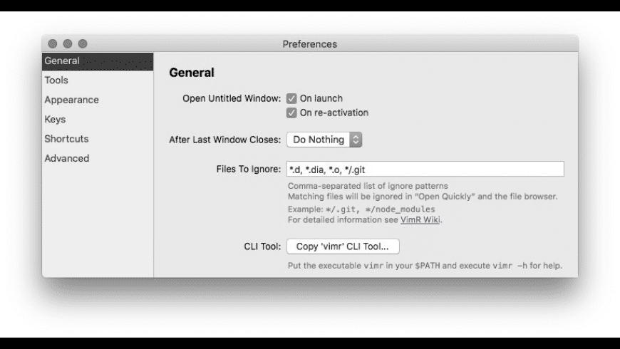 VimR for Mac - review, screenshots