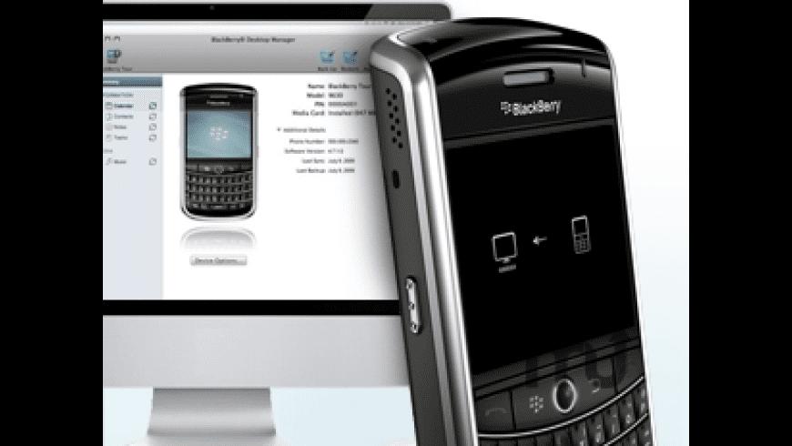 BlackBerry Desktop Manager for Mac - review, screenshots