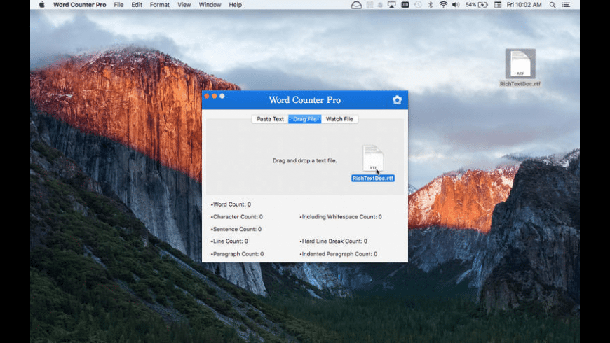 Word Counter Pro for Mac - review, screenshots