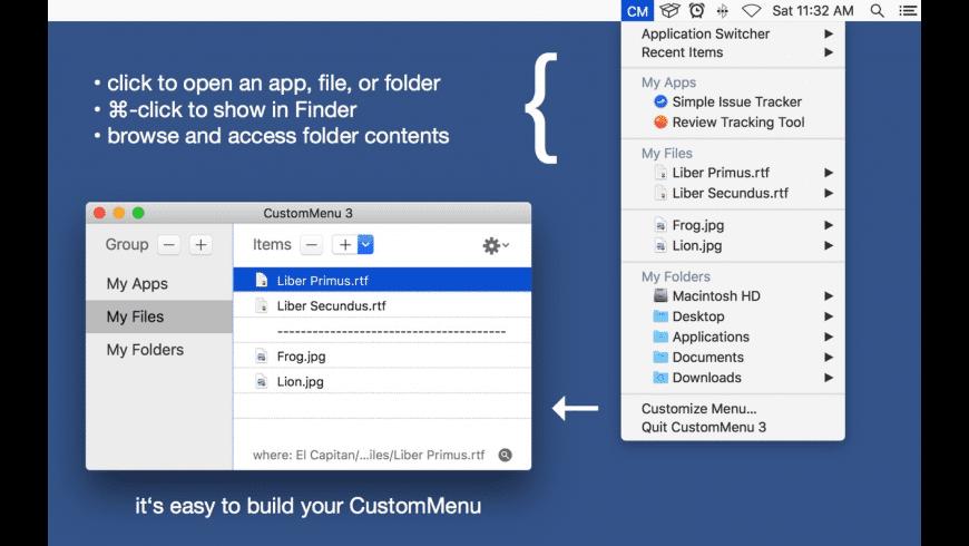 CustomMenu 3 for Mac - review, screenshots