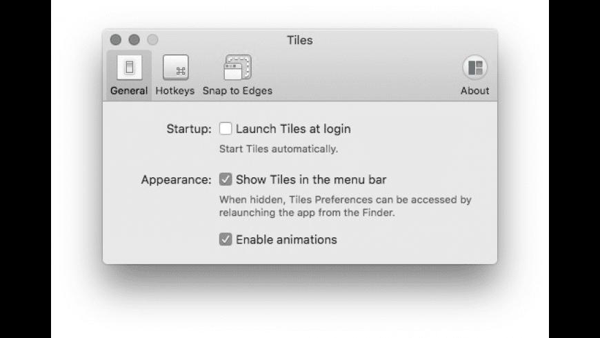 Tiles for Mac - review, screenshots