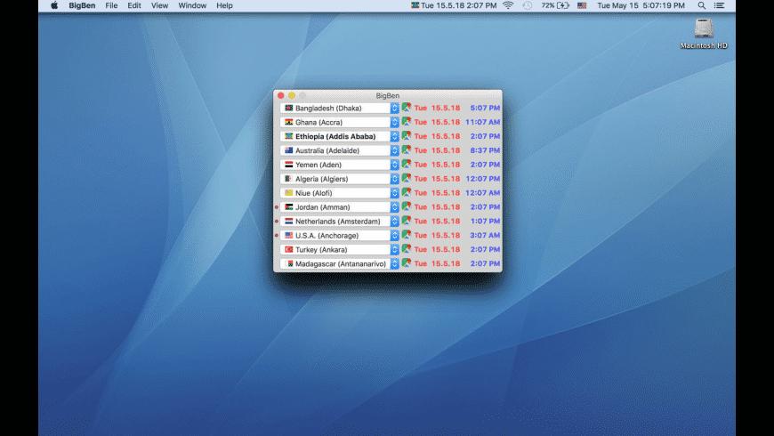 BigBen for Mac - review, screenshots
