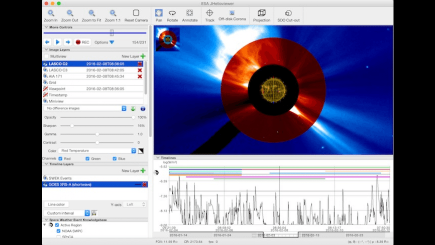 JHelioviewer for Mac - review, screenshots