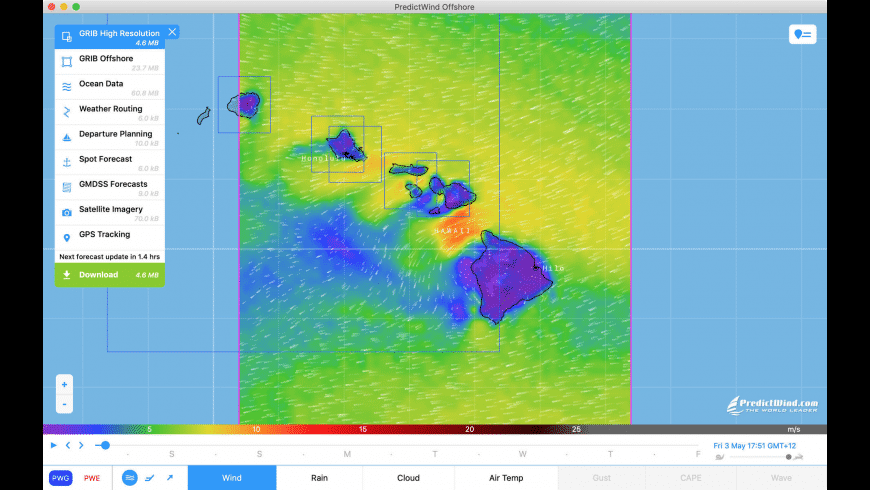 PredictWind Offshore Weather for Mac - review, screenshots
