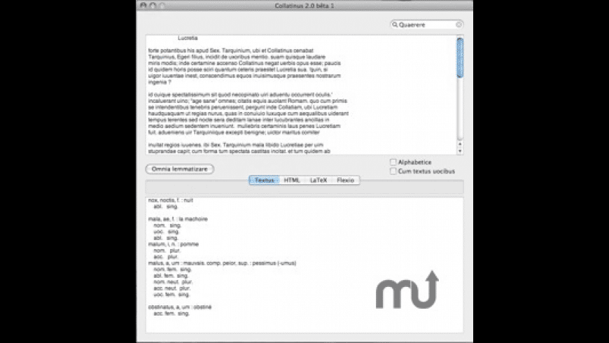 Collatinus for Mac - review, screenshots