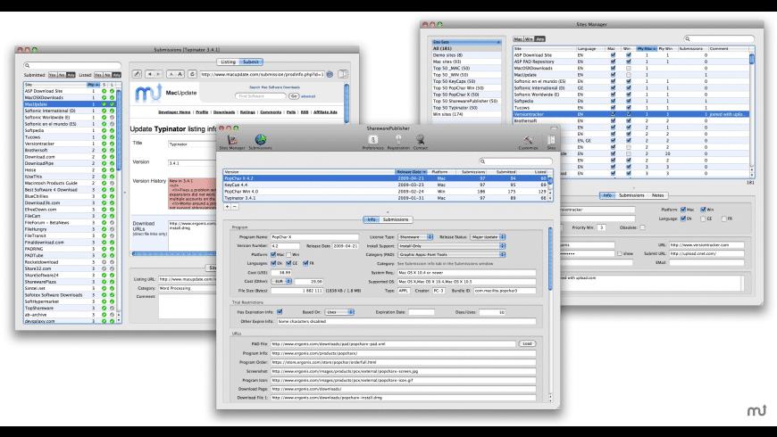 SharewarePublisher for Mac - review, screenshots
