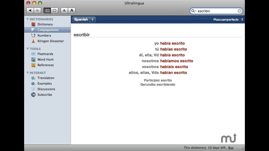 Ultralingua Spanish-English Dictionary for Mac - review, screenshots