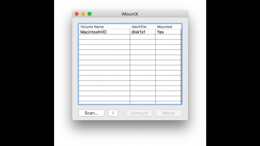 iMountX for Mac - review, screenshots