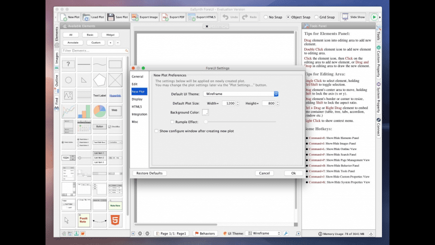 ForeUI Prototyping Tool for Mac - review, screenshots